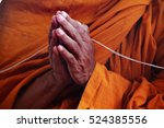 press the hands and  holy... | Shutterstock . vector #524385556