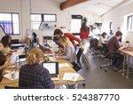 interior of busy design office... | Shutterstock . vector #524387770