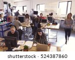 interior of busy design office... | Shutterstock . vector #524387860