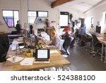 interior of busy design office...   Shutterstock . vector #524388100