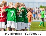 young football team. children... | Shutterstock . vector #524388370