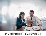 two confident businesspeople... | Shutterstock . vector #524390674