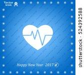 cardiogram icon vector | Shutterstock .eps vector #524392588