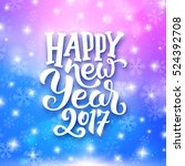 happy new year 2017 greeting... | Shutterstock .eps vector #524392708