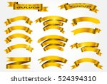 set of gold ribbons.golden... | Shutterstock .eps vector #524394310