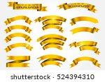 set of gold ribbons.golden... | Shutterstock .eps vector #524394310