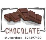 vector simple illustration of... | Shutterstock .eps vector #524397430