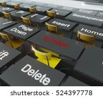 education and technology team... | Shutterstock . vector #524397778