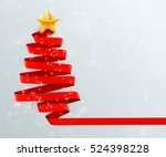 christmas tree made of red... | Shutterstock .eps vector #524398228
