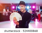 magician showing trick with... | Shutterstock . vector #524400868