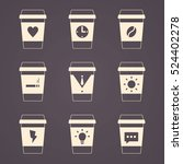 coffee business  contour icons  ... | Shutterstock .eps vector #524402278