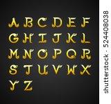 thai calligraphic alphabet... | Shutterstock .eps vector #524408038