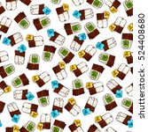 cute seamless pattern made of... | Shutterstock .eps vector #524408680