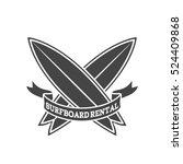 surfboard rental logo design....   Shutterstock .eps vector #524409868