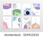 geometric background template... | Shutterstock .eps vector #524412310