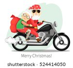 santa claus and mrs. claus... | Shutterstock .eps vector #524414050