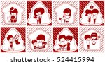 christmas scenes. red and white ... | Shutterstock .eps vector #524415994
