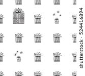 vector christmas seamless... | Shutterstock .eps vector #524416894