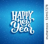 happy new year lettering on... | Shutterstock .eps vector #524417278