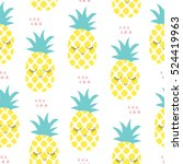 seamless pineapple pattern... | Shutterstock .eps vector #524419963
