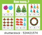 counting educational children... | Shutterstock .eps vector #524421574