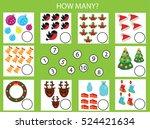 counting educational children... | Shutterstock .eps vector #524421634