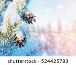 Christmas Background. Winter...