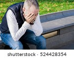 businessman in depression with... | Shutterstock . vector #524428354
