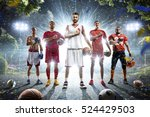 multi sports collage boxing... | Shutterstock . vector #524429503
