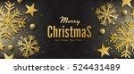 elegant merry christmas and... | Shutterstock . vector #524431489