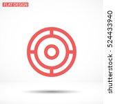 crosshair .line vector icon | Shutterstock .eps vector #524433940