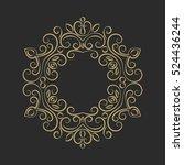 elegant hand drawn retro floral ... | Shutterstock .eps vector #524436244