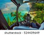 helicopter cockpit flies in kee ... | Shutterstock . vector #524439649