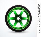 vector sport wheel with green... | Shutterstock .eps vector #524440300