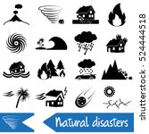 various natural disasters...   Shutterstock .eps vector #524444518