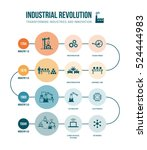 industrial revolution stages... | Shutterstock .eps vector #524444983