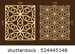 laser cutting set. woodcut... | Shutterstock .eps vector #524445148
