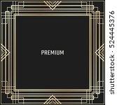 vector geometric frame in art... | Shutterstock .eps vector #524445376