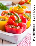 stuffed peppers | Shutterstock . vector #524447236