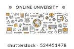 vector line design concept web... | Shutterstock .eps vector #524451478