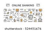 vector line web concept for... | Shutterstock .eps vector #524451676