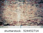 old red brick wall textures and ... | Shutterstock . vector #524452714