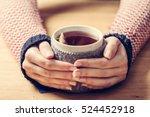 Hot Mug Of Tea Warming Woman's...