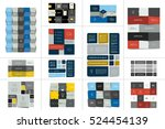 big set of tables  schedules ... | Shutterstock .eps vector #524454139