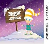 Vector Cartoon Cute Merry...