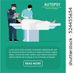 the autopsy of the murder... | Shutterstock .eps vector #524455654