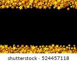 golden stars glitter scattered...   Shutterstock .eps vector #524457118