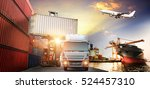 logistics and transportation of ... | Shutterstock . vector #524457310