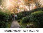 tourists go sightseeing around...   Shutterstock . vector #524457370