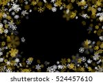 snowfall background with golden ... | Shutterstock .eps vector #524457610